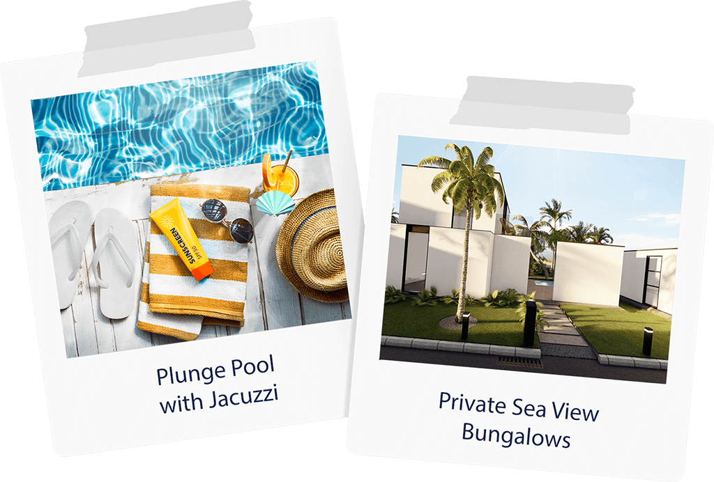 relax in private plunge pool and jacuzzi, best beach vacation
