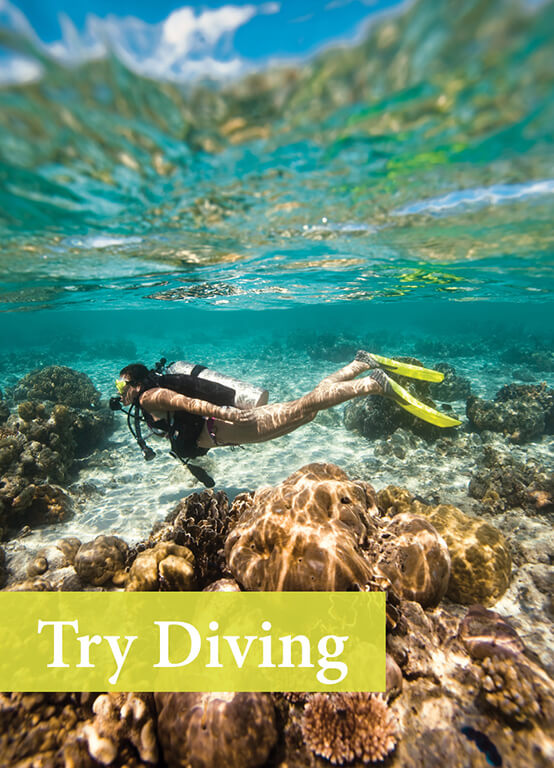 Try Scuba Diving during your active holidays in Sri Lanka with Divinguru, Diving for children and women